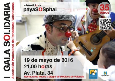 Gala benefica solidaridad Payasospital
