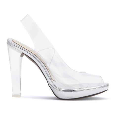Silvie Magrit peep-toe destalonado zapato vinilo y metacrilato Paloma Silla Destaca-te 2