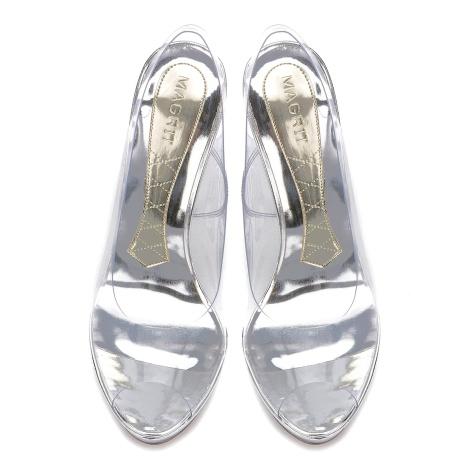 Silvie Magrit peep-toe destalonado zapato vinilo y metacrilato Paloma Silla Destaca-te 3