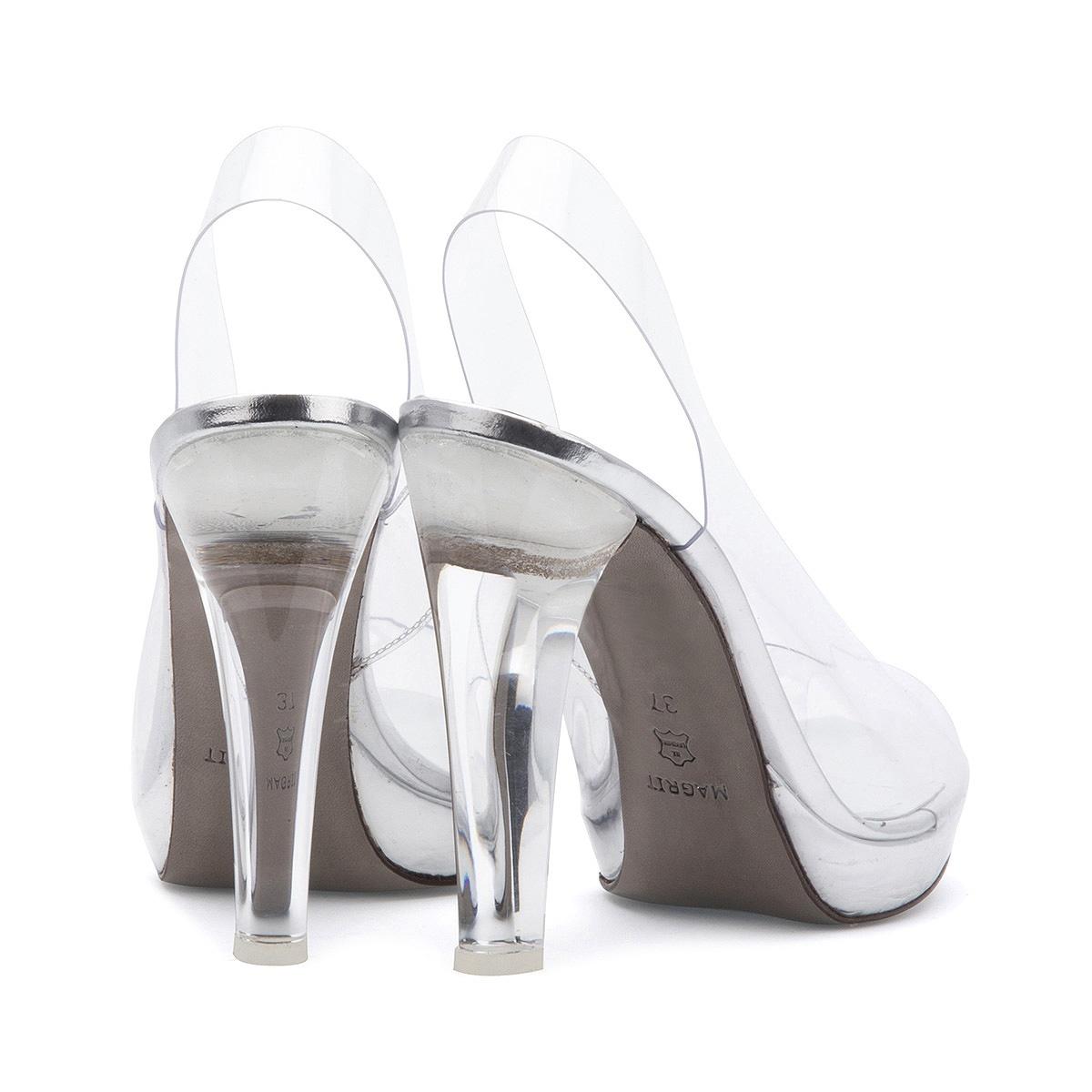 Silvie Magrit peep-toe destalonado zapato vinilo y metacrilato Paloma Silla Destaca-te 4