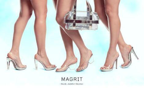 Silvie Magrit peep-toe destalonado zapato vinilo y metacrilato Paloma Silla Destaca-te 5
