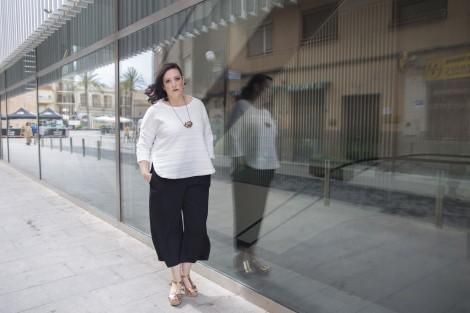 look tallas grandes pluse size imagen asesoria Paloma Silla Destaca-te