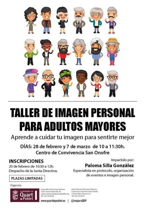 Taller de imagen personal adultos Paloma Silla Destaca-te Ayuntamiento Quart de Poblet