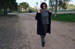 Destaca-te Paloma Silla abrigo, top y mayas cuadro escocés curvy asesoria imagen 9
