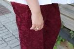 Paloma Silla Destaca-te asesoria de imagen moda tallas grandes curvy pantalón satén granate tex