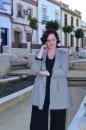 Blazer cuadros pata de gallo blanco y negro Paloma Silla Destaca-te tallas grandes Cortefiel asesoria 13