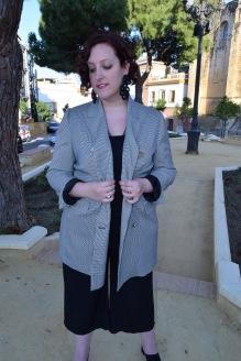Blazer cuadros pata de gallo blanco y negro Paloma Silla Destaca-te tallas grandes Cortefiel asesoria 4