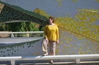 Paloma Silla Destaca-te asesoria de imagen tallas grandes pantalón floral oriental Zara dorados y ocres 17