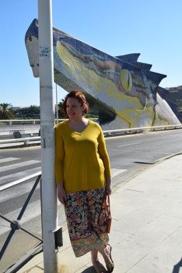 Paloma Silla Destaca-te asesoria de imagen tallas grandes pantalón floral oriental Zara dorados y ocres 22